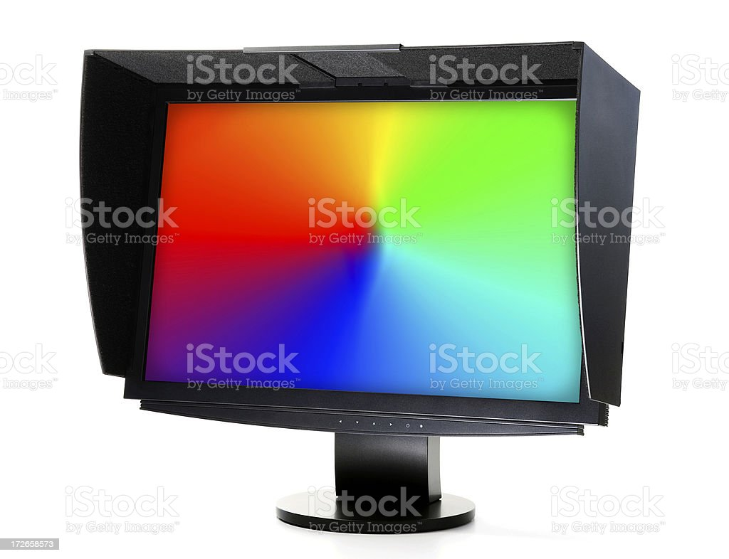 monitor with the hood royalty-free stock photo