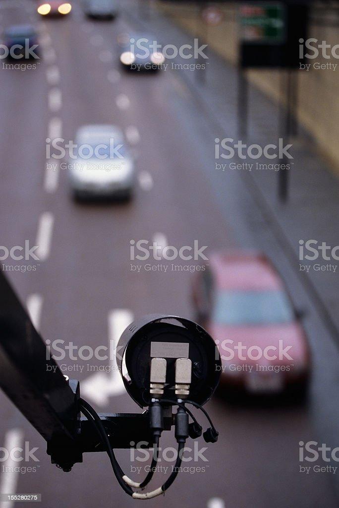CCTV monitoring a motorway royalty-free stock photo