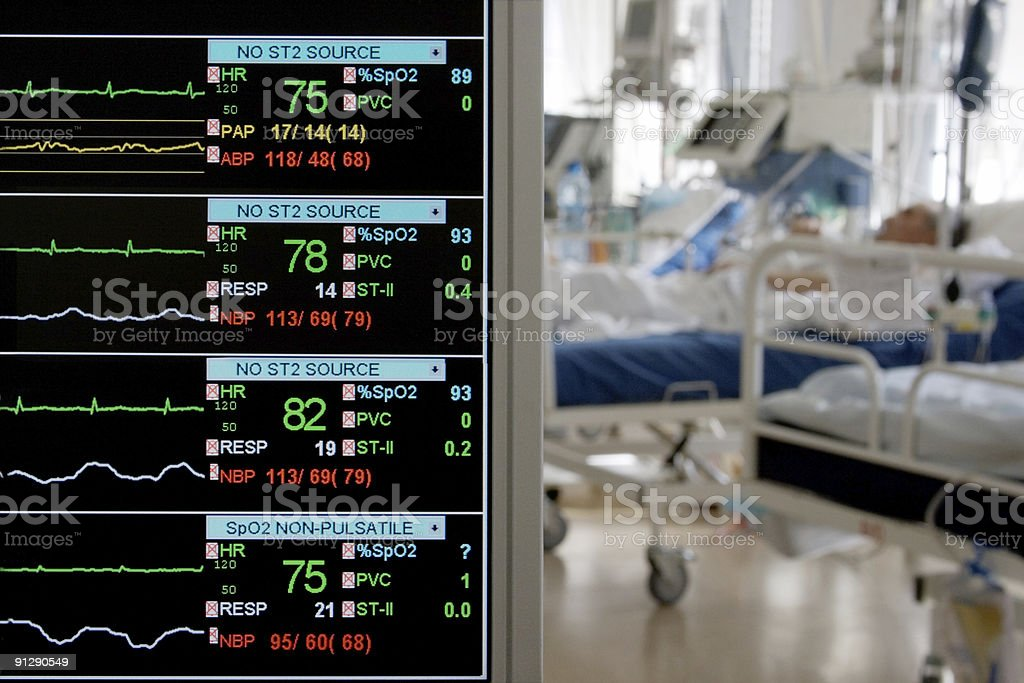 monitoring in ICU royalty-free stock photo