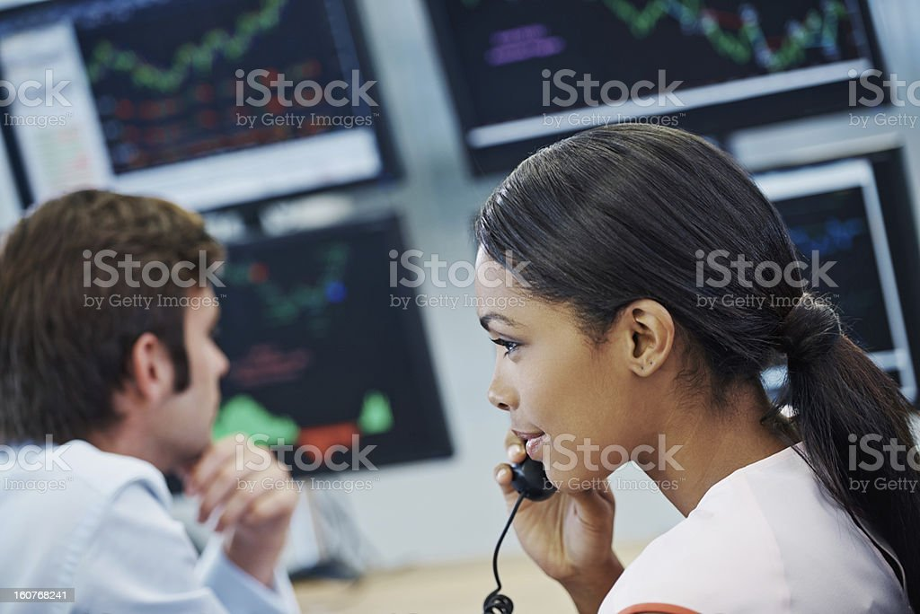 Monitoring the fluctuations royalty-free stock photo