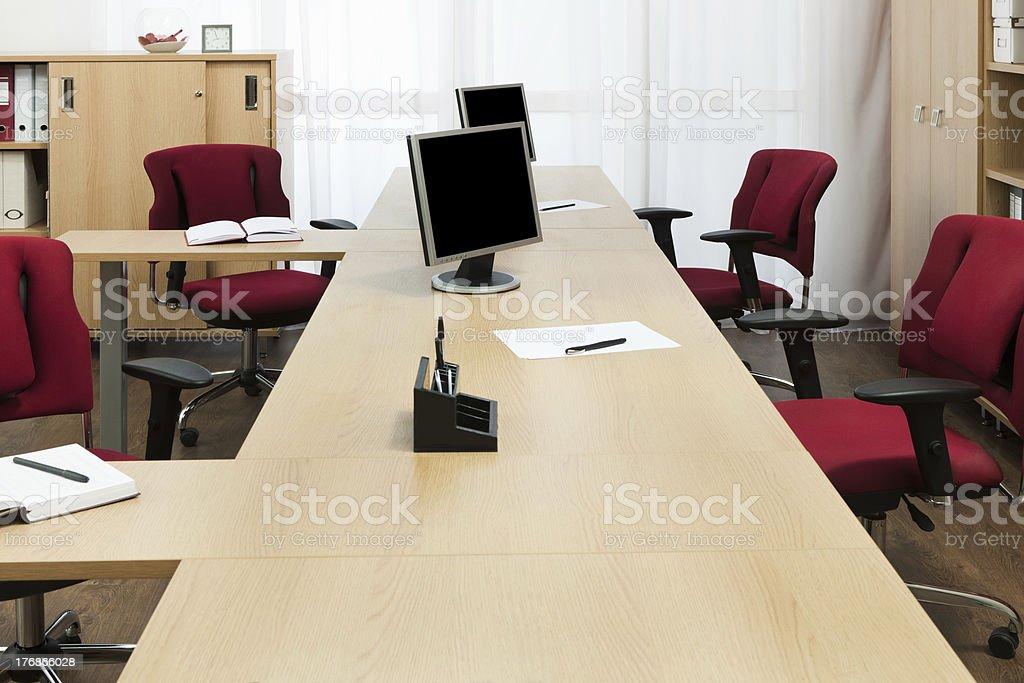 monitors on the desks royalty-free stock photo