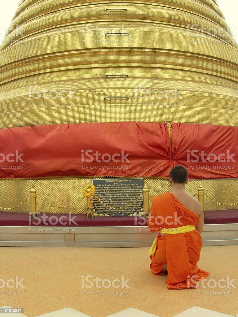 Monk 02 royalty-free stock photo