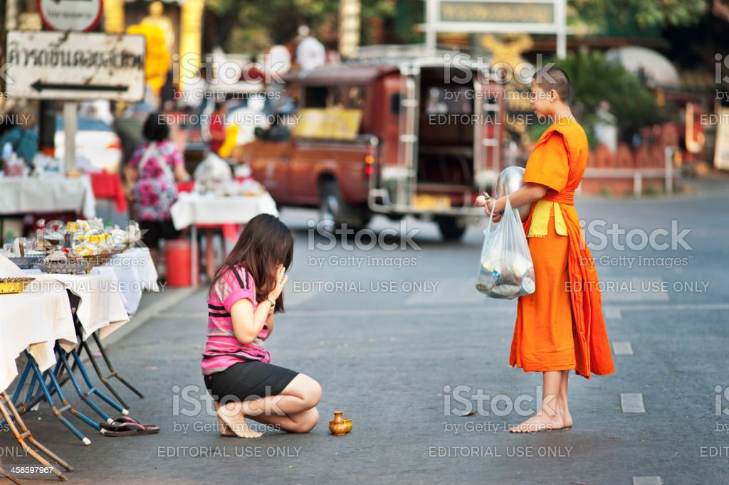 Monk Blessings stock photo