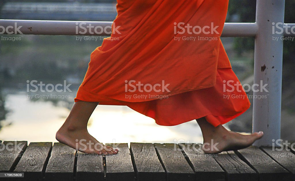 Monk in thailand stock photo
