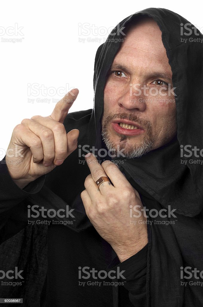 monk or maybe sorcerer royalty-free stock photo