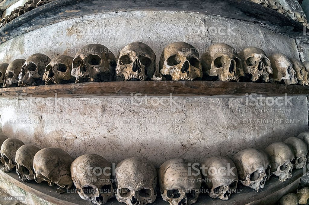 Monk skulls stock photo