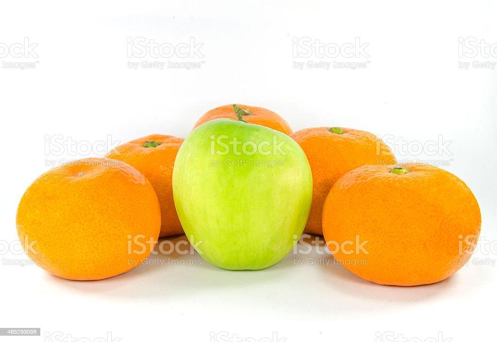 monkey apple and orange stock photo