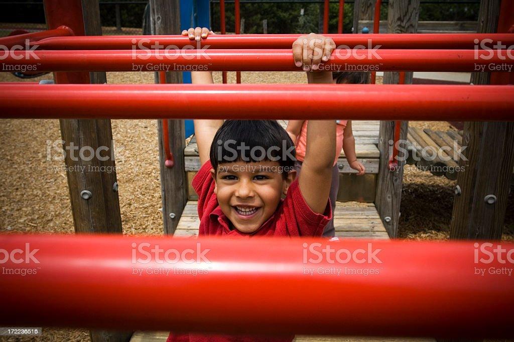 monkey bar fun royalty-free stock photo
