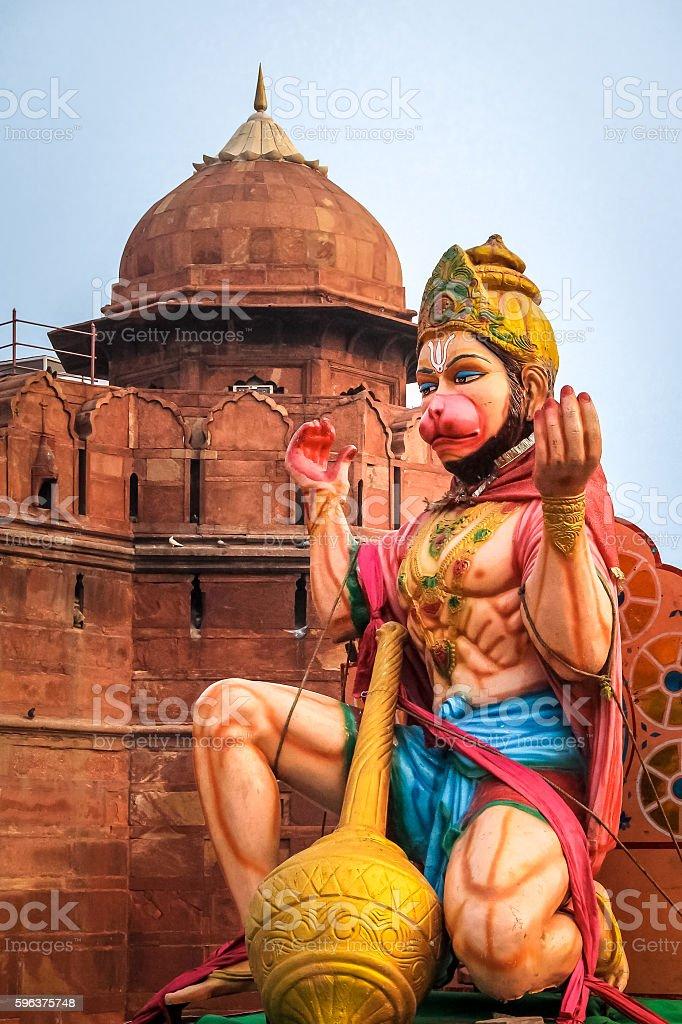 Monkey Hindu God Hanuman - New Delhi, India stock photo