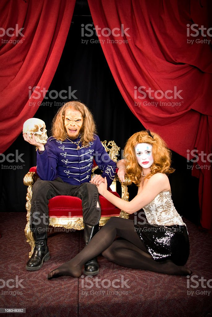 Monkey king with his servent royalty-free stock photo