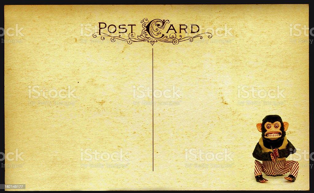 Monkey Postcard royalty-free stock photo