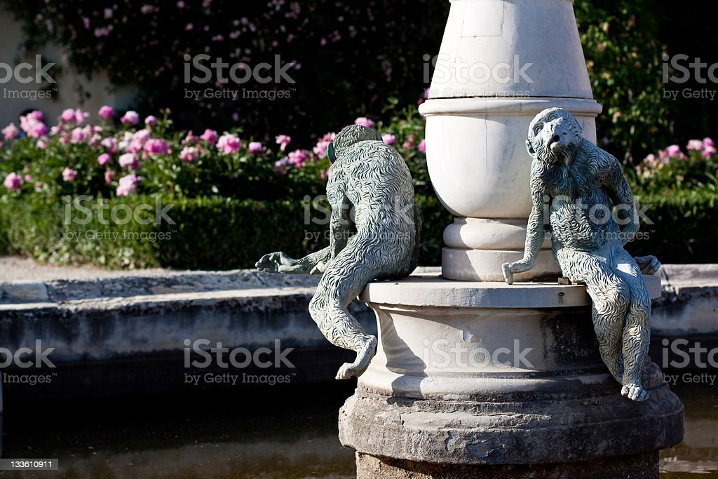 Monkey statue stock photo