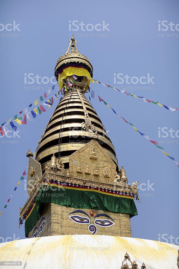 Monkey Temple, religion symbol in Kathmandu royalty-free stock photo