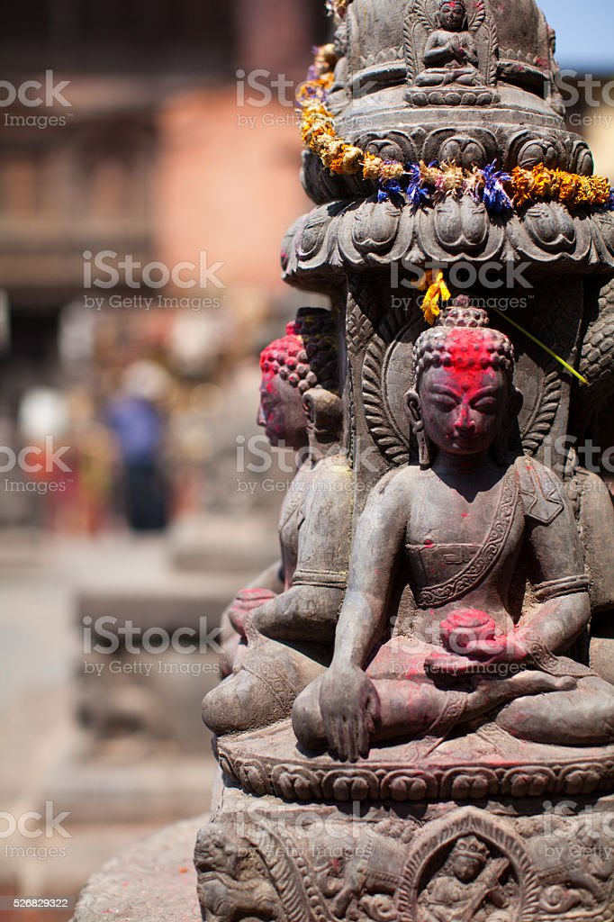 Monkey temple sculpture stock photo