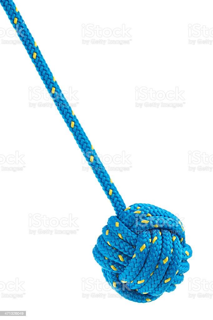 Monkey's fist knot royalty-free stock photo