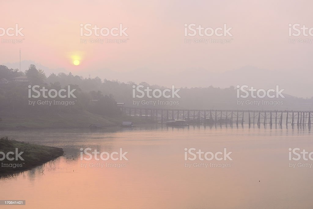 Mon-khmer bridge royalty-free stock photo