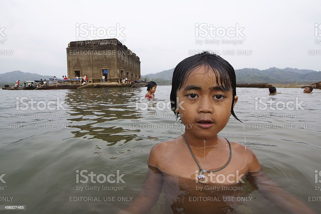 Mon-khmer child royalty-free stock photo