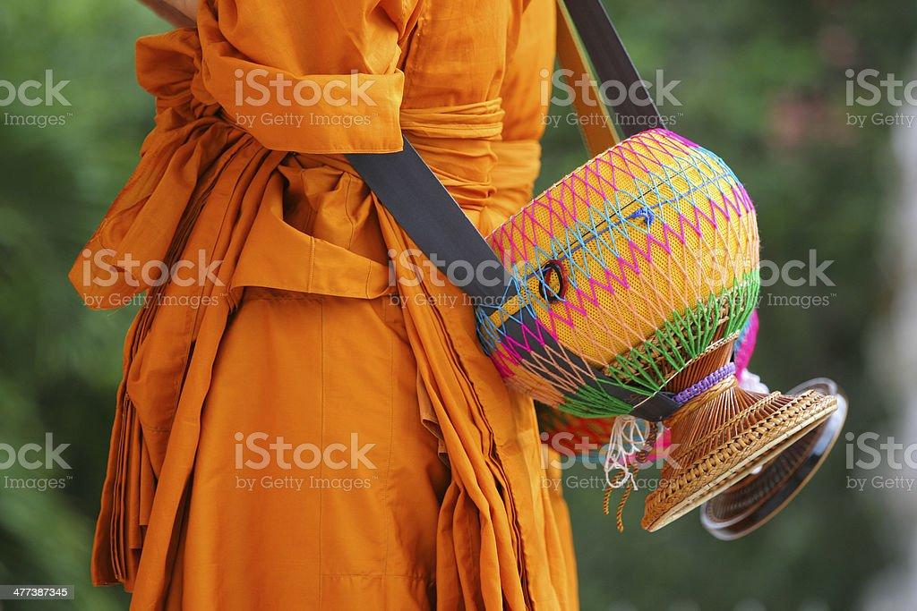 monk's alms-bowl stock photo