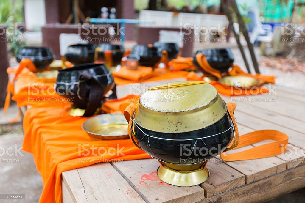 Monk's alms-bowl royalty-free stock photo