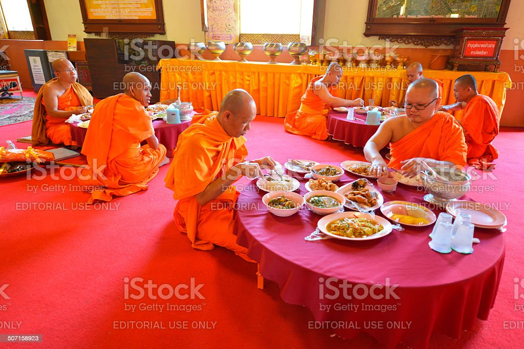Monks, Chiang Mai, Thailand stock photo