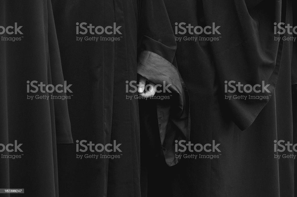 Monk's hand royalty-free stock photo