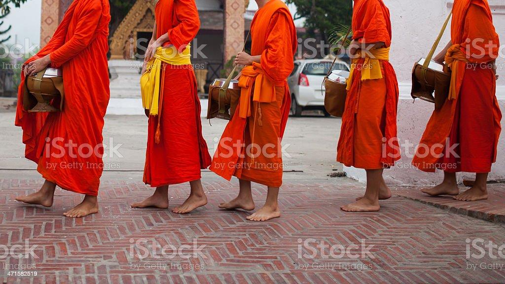 Monks in Luang Phabang stock photo