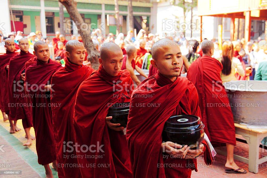 Monks in Mahagandayone monastery royalty-free stock photo