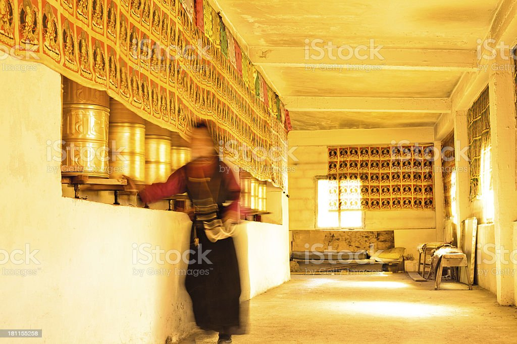 Monks in Tibetan Buddhism royalty-free stock photo