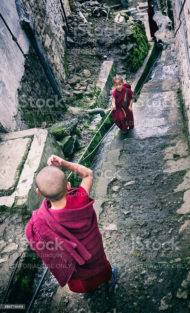 Monks, India. stock photo