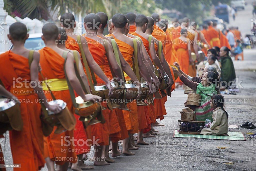 Monks Luang Prabang stock photo