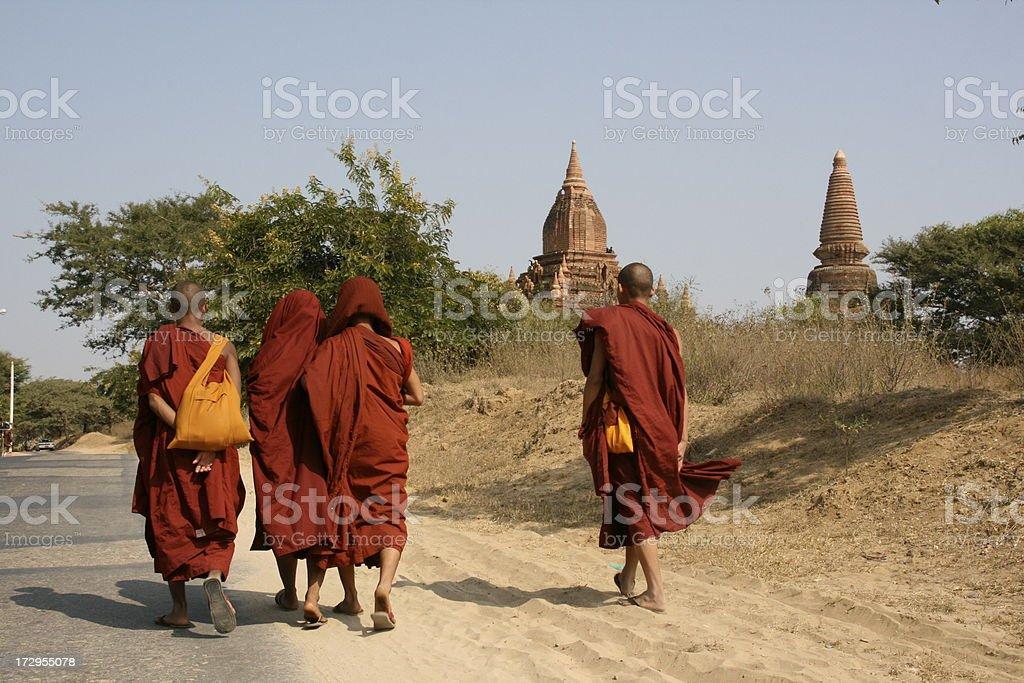 Monks of Myanmar royalty-free stock photo