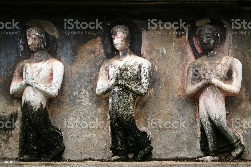 monks procession royalty-free stock photo