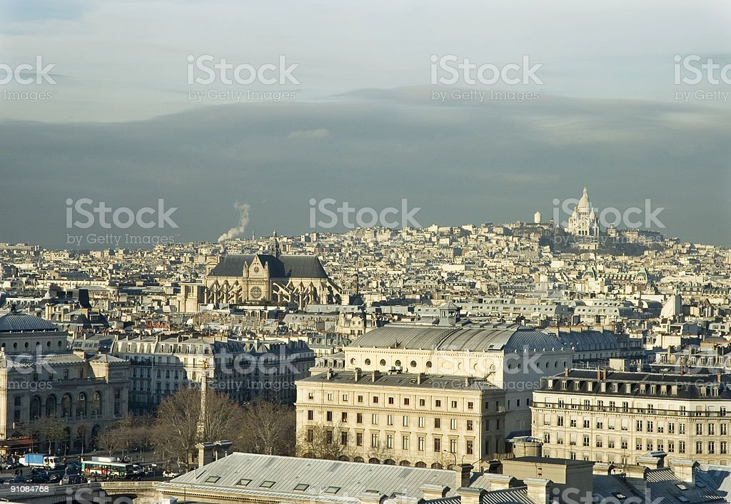 Monmartre Hill with the church of Sacre Coeur royalty-free stock photo