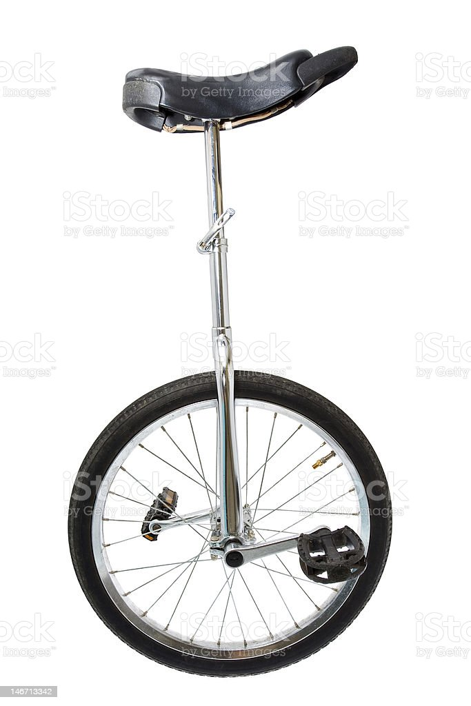 Mono cycle on white royalty-free stock photo
