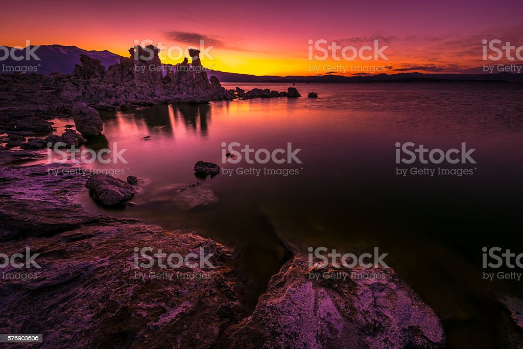 Mono Lake after Sunset stock photo