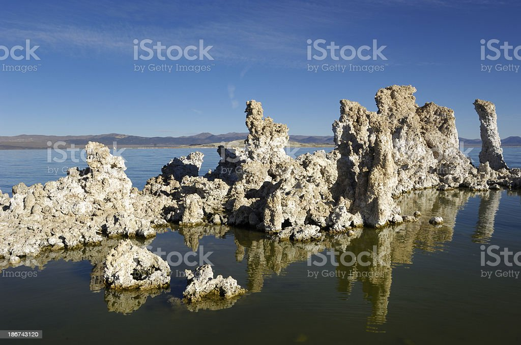 Mono Lake and Tufa Formations royalty-free stock photo