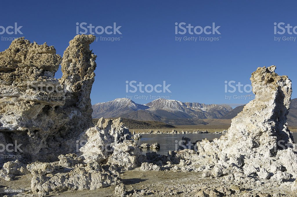 Mono Lake and Tufa Formations royalty-free stock photo