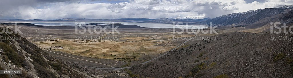 Mono Lake from the north stock photo