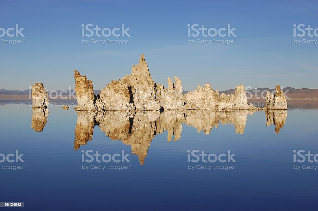 Mono Lake Mirror stock photo