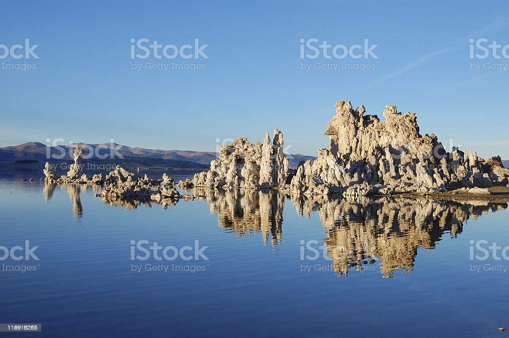 Mono Lake Reflection stock photo