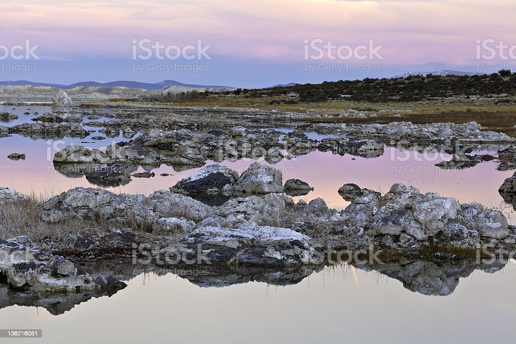 Mono Lake Sunset stock photo