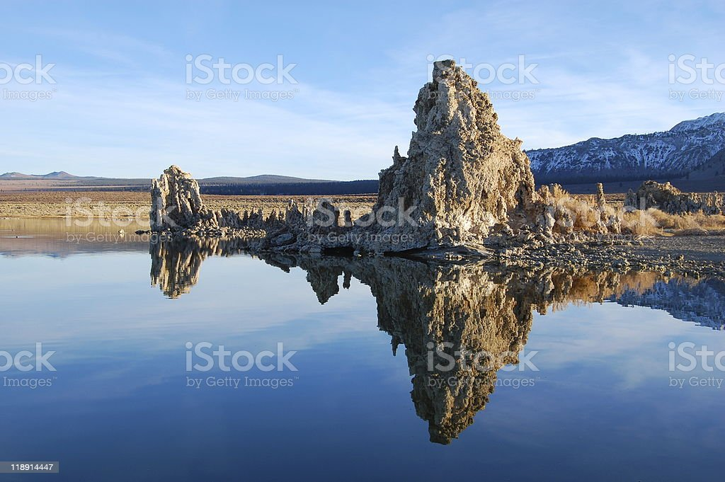 Mono Lake Tufa Formation stock photo