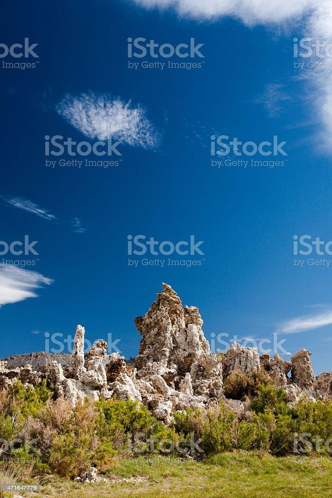 Mono Lake tufa rock in sunny summer day royalty-free stock photo