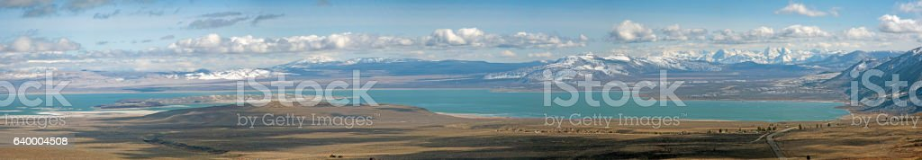 Mono Lake wide panorama stock photo