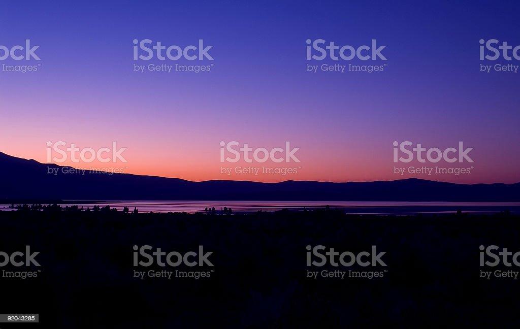 Mono Lake-Orange Sunset royalty-free stock photo