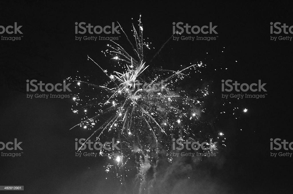 Mono starburst stock photo