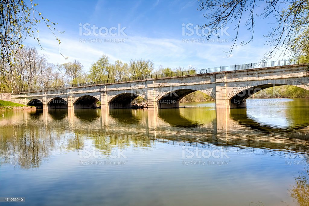 Monocacy River Aqueduct, Frederick Maryland, HDR stock photo