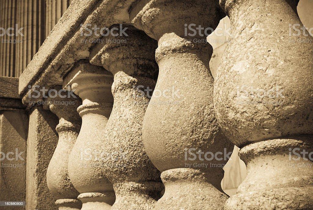 Monochromatic columns royalty-free stock photo
