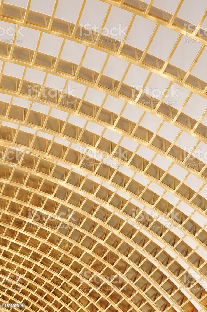 Monochrome architectural abstract - fragment of modern glass roof royalty-free stock photo