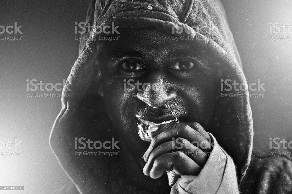 Monochrome boxer stock photo
